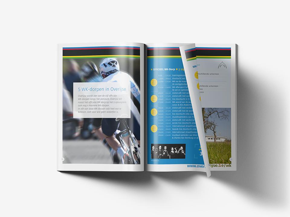 WK wielrennen 2021 brochure spread