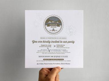 Letterpress uitnodiging